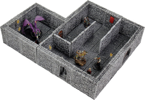 WarLock Tiles: Dungeon Tiles II - Full Height Stone Walls