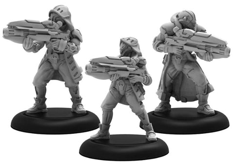 Warcaster: Aeternus Continuum Vassal Witch Hunters Squad (White Metal)
