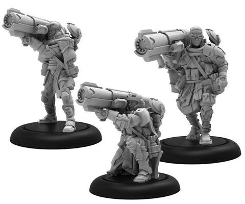 Warcaster: Marcher Worlds Ranger Heavy Support Squad (White Metal)