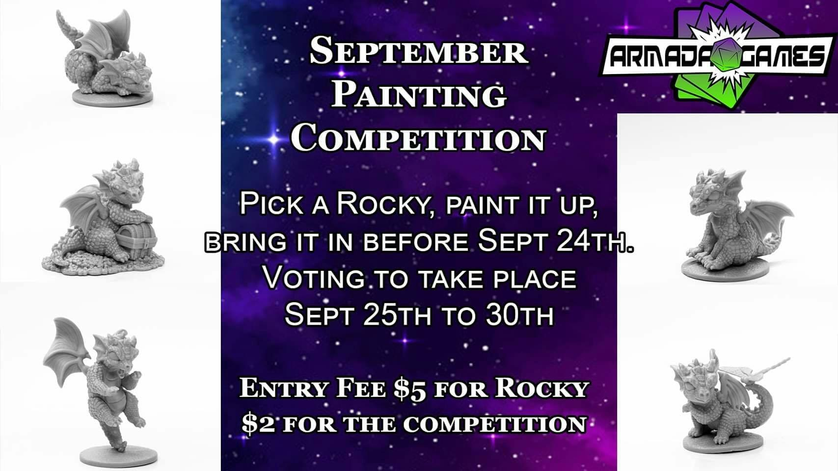 September Painting Competition - Rocky!