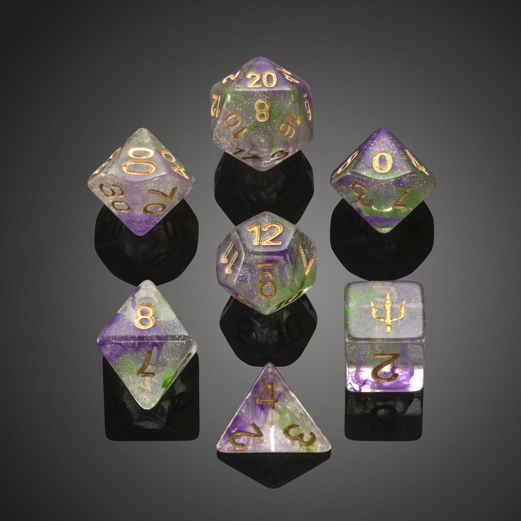 'Spirit of' Atlantis - Royal Guardian Polyhedral Dice