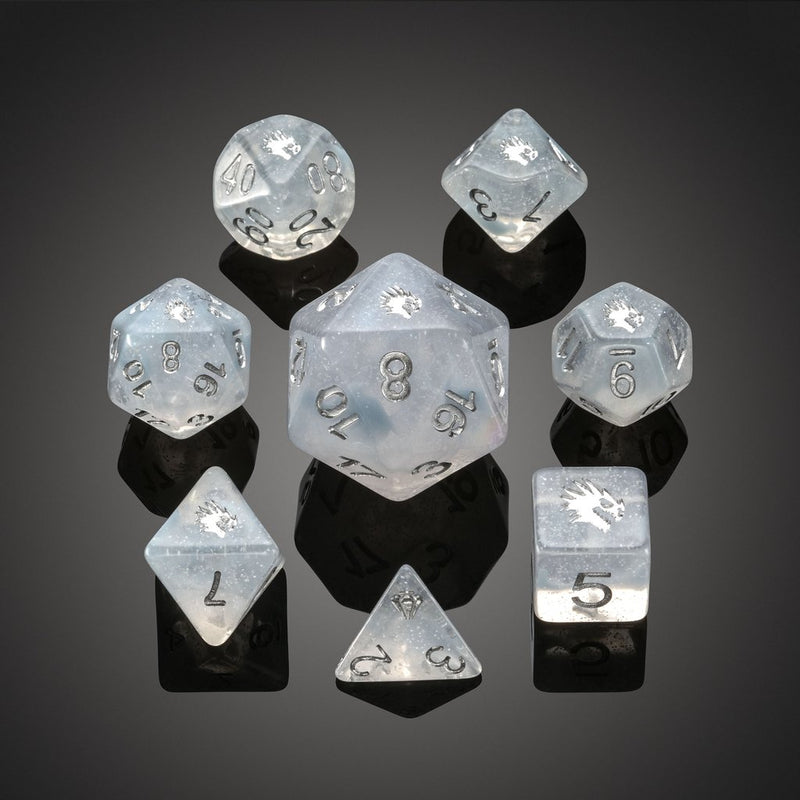 'Spirit of' Arctic - Arctic Dragon Polyhedral Dice