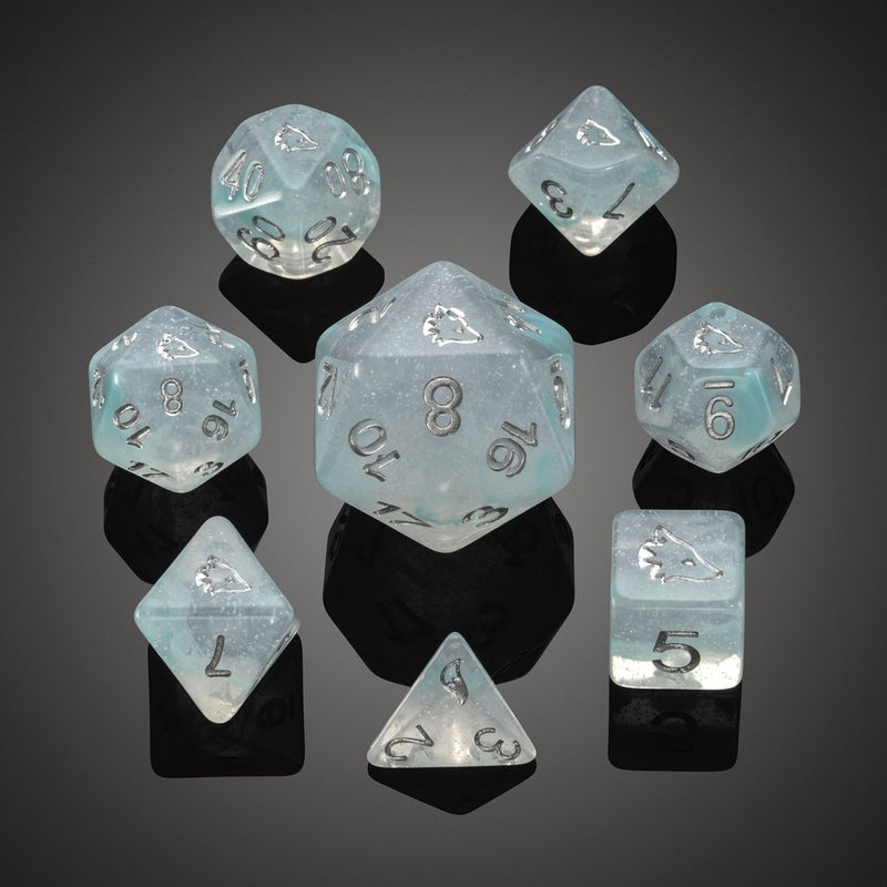 'Spirit of' Arctic - Arctic Fox Polyhedral Dice