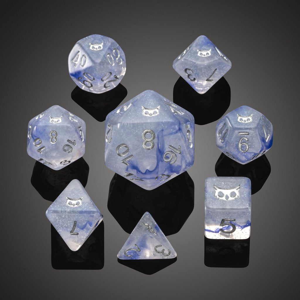 'Spirit of' Arctic - Snow Owl Polyhedral Dice