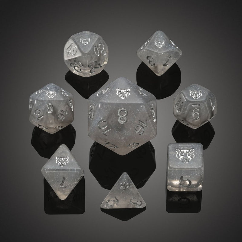 'Spirit of' Arctic - Snow Leopard Polyhedral Dice