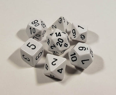 Opaque White with Black Polyhedral