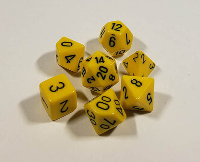 Opaque Yellow with Black Polyhedral