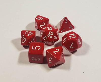 Opaque Red with White Polyhedral