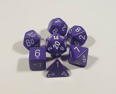 Opaque Purple with White Polyhedral