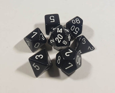 Opaque Black with White Polyhedral