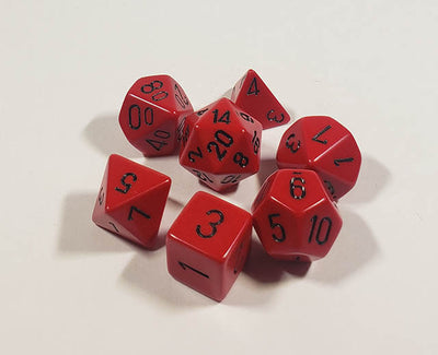 Opaque Red with Black Polyhedral