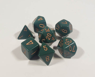 Opaque Dusty Green with Copper Polyhedral