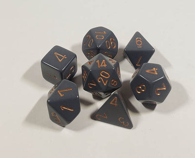 Opaque Dark Grey with Copper Polyhedral