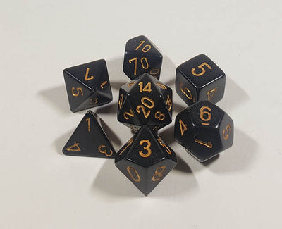 Opaque Black with Gold Polyhedral