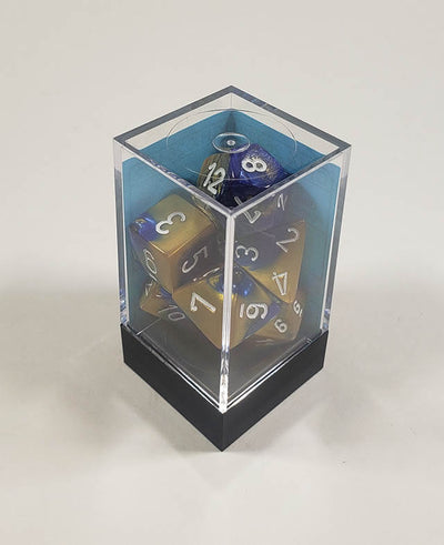 Gemini Blue-Gold with White Polyhedral