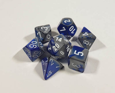 Gemini Blue-Steel with White Polyhedral