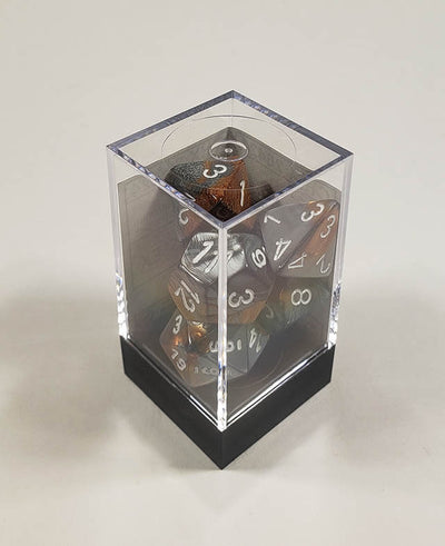 Gemini Copper-Steel with White Polyhedral