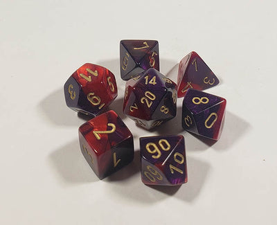 Gemini Purple-Red with Gold Polyhedral
