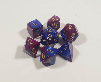 Gemini Blue-Purple with Gold Polyhedral