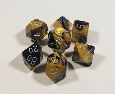 Gemini Black-Gold with Silver Polyhedral