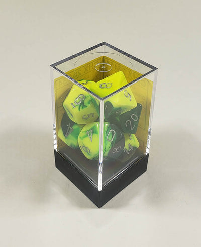 Gemini Green-Yellow with Silver Polyhedral