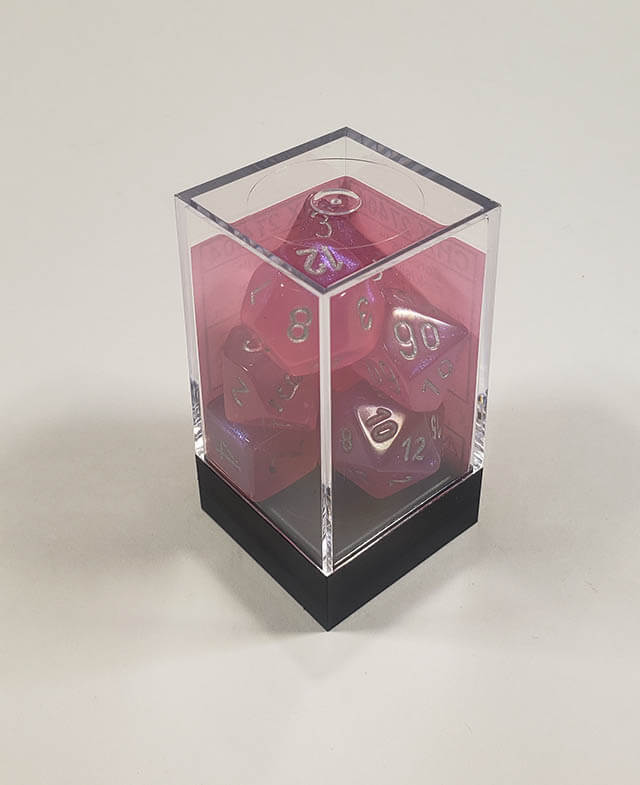 Borealis Pink with Silver Polyhedral