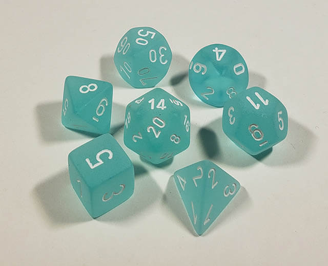 Frosted Teal with White Polyhedral