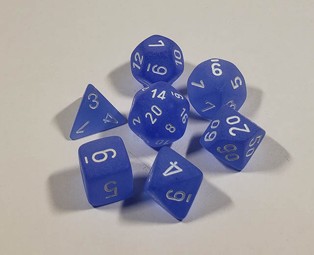 Frosted Blue with White Polyhedral