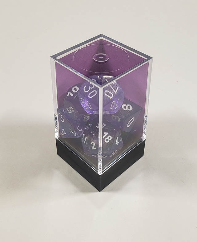Borealis Purple with White Polyhedral
