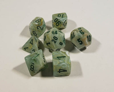 Marble Green with Dark Green Polyhedral