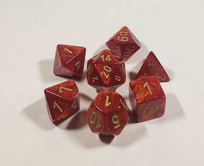 Scarab Scarlet with Gold Polyhedral
