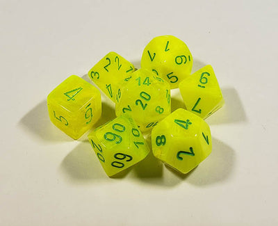 Vortex Electric Yellow with Green Polyhedral