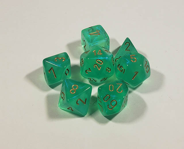 Borealis Light Green with Gold Polyhedral