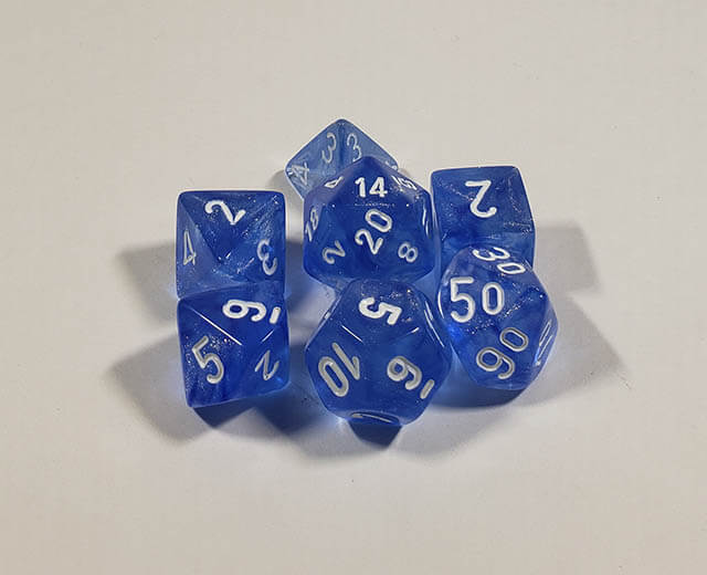 Borealis Sky Blue with White Polyhedral