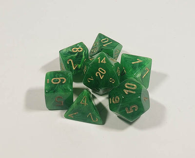 Vortex Green with Gold Polyhedral