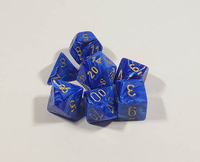 Vortex Blue with Gold Polyhedral