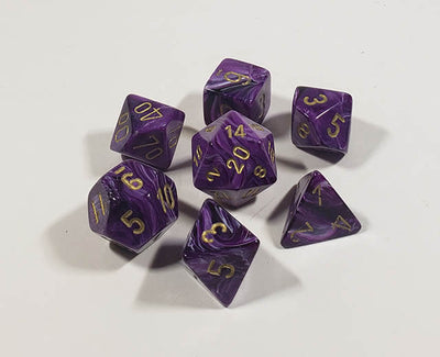 Vortex Purple with Gold Polyhedral