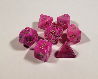 Vortex Pink with Gold Polyhedral
