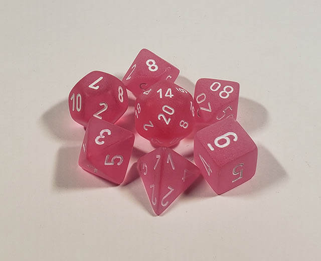 Frosted Pink with White Polyhedral