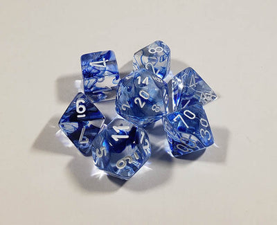 Nebula Dark Blue with White Polyhedral