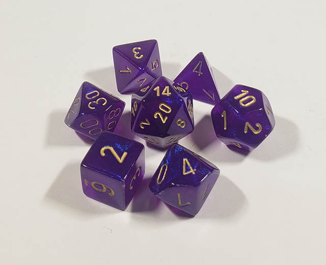 Borealis Royal Purple with Gold Polyhedral