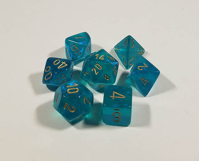 Borealis Teal with Gold Polyhedral
