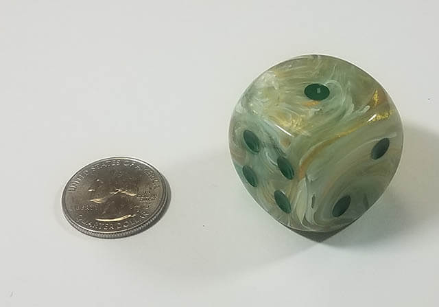 Marble Green with Dark Green 30mm d6