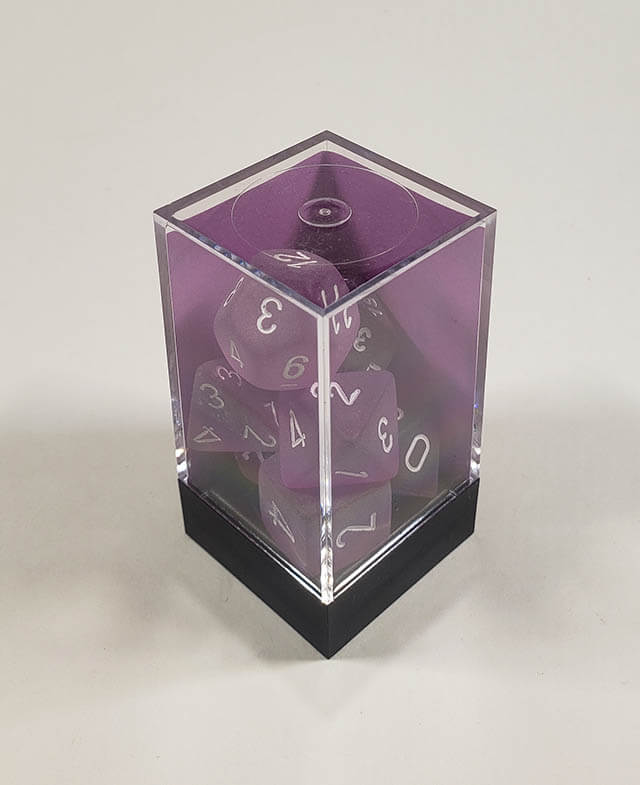 Frosted Purple with White Polyhedral