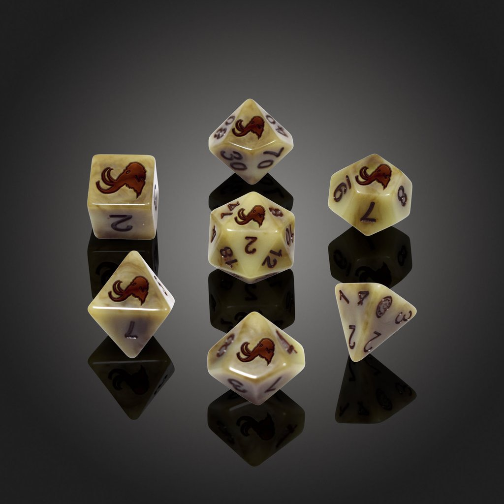 'Spirit of' Extinction - Mammoth Polyhedral Dice