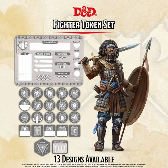 D&D 5th: Token Set - Fighter