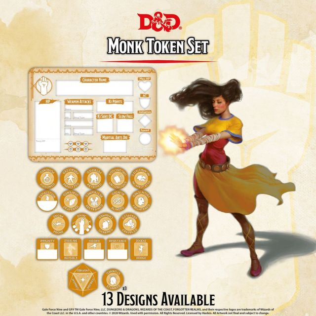 D&D 5th: Token Set - Monk