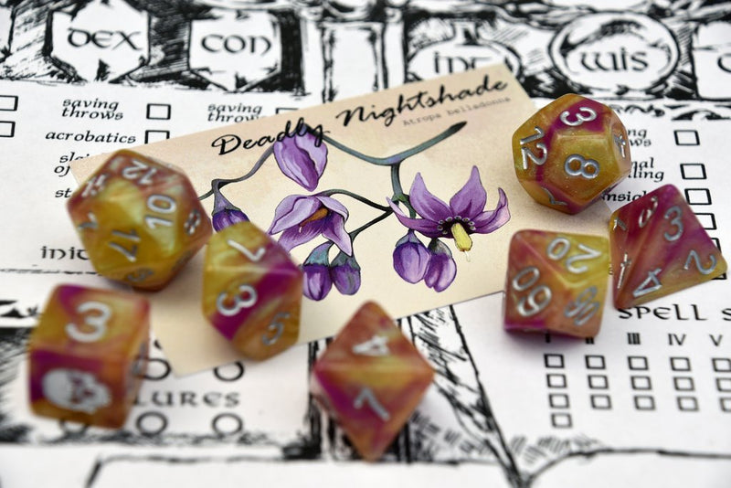'Spirit of' Deadly Flora & Fauna - Nightshade Polyhedral Dice