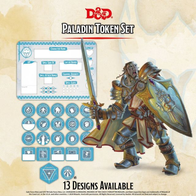 D&D 5th: Token Set - Paladin