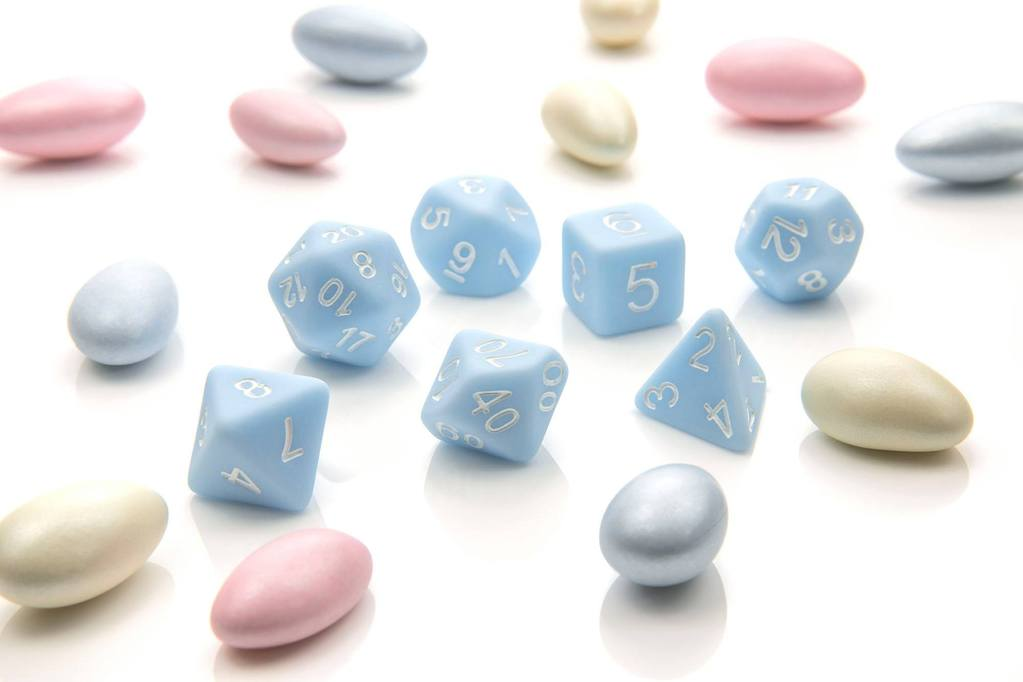 'Pastel Pop' - Duck Egg Blue Polyhedral Dice